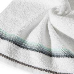 Ręcznik z tęczowym haftem na bordiurze 50x90cm - 50 X 90 cm - biały 5