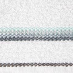 Ręcznik z tęczowym haftem na bordiurze 70x140cm - 70 X 140 cm - biały 9
