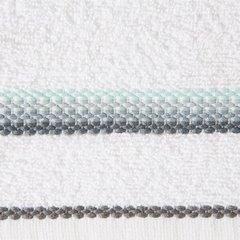 Ręcznik z tęczowym haftem na bordiurze 70x140cm - 70 X 140 cm - biały 4