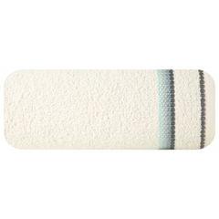 Ręcznik z tęczowym haftem na bordiurze 30x50cm - 30 X 50 cm - kremowy 2