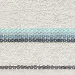 Ręcznik z tęczowym haftem na bordiurze 30x50cm - 30 X 50 cm - kremowy 4