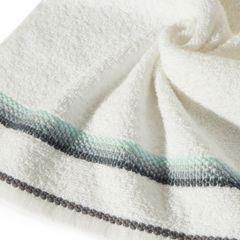 Ręcznik z tęczowym haftem na bordiurze 30x50cm - 30 X 50 cm - kremowy 5