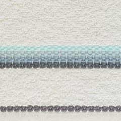 Ręcznik z tęczowym haftem na bordiurze 50x90cm - 50 X 90 cm - kremowy 9