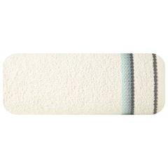 Ręcznik z tęczowym haftem na bordiurze 50x90cm - 50 X 90 cm - kremowy 2