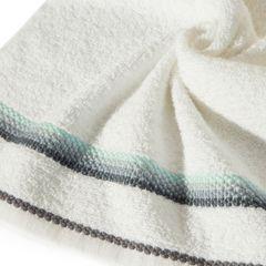 Ręcznik z tęczowym haftem na bordiurze 50x90cm - 50 X 90 cm - kremowy 5