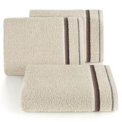 Ręcznik z tęczowym haftem na bordiurze 50x90cm - 50 X 90 cm - beżowy 1