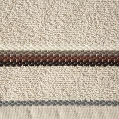 Ręcznik z tęczowym haftem na bordiurze 50x90cm - 50 X 90 cm - beżowy 4