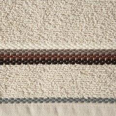 Ręcznik z tęczowym haftem na bordiurze 70x140cm - 70 X 140 cm - beżowy 10