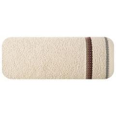 Ręcznik z tęczowym haftem na bordiurze 70x140cm - 70 X 140 cm - beżowy 2
