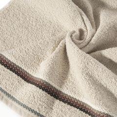 Ręcznik z tęczowym haftem na bordiurze 70x140cm - 70 X 140 cm - beżowy 5