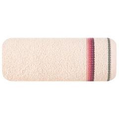 Ręcznik z tęczowym haftem na bordiurze 50x90cm - 50 X 90 cm - różowy 2