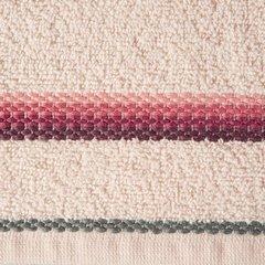Ręcznik z tęczowym haftem na bordiurze 70x140cm - 70x140 - różowy 3