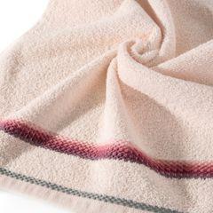 Ręcznik z tęczowym haftem na bordiurze 70x140cm - 70x140 - różowy 2