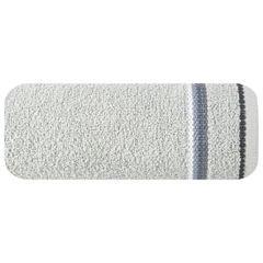 Ręcznik z tęczowym haftem na bordiurze 50x90cm - 50 X 90 cm - srebrny 2