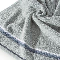 Ręcznik z tęczowym haftem na bordiurze 50x90cm - 50 X 90 cm - srebrny 5