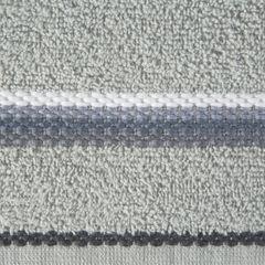 Ręcznik z tęczowym haftem na bordiurze 70x140cm - 70 X 140 cm - srebrny 9