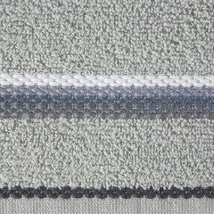 Ręcznik z tęczowym haftem na bordiurze 70x140cm - 70 X 140 cm - srebrny 4