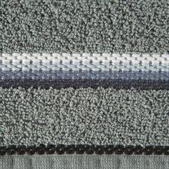 Ręcznik z tęczowym haftem na bordiurze 30x50cm - 30 X 50 cm - stalowy 4