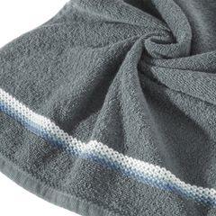 Ręcznik z tęczowym haftem na bordiurze 30x50cm - 30 X 50 cm - stalowy 2