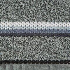 Ręcznik z tęczowym haftem na bordiurze 50x90cm - 50 X 90 cm - stalowy 10