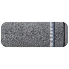 Ręcznik z tęczowym haftem na bordiurze 50x90cm - 50 X 90 cm - stalowy 2