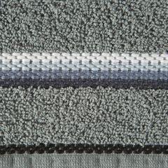Ręcznik z tęczowym haftem na bordiurze 50x90cm - 50 X 90 cm - stalowy 4