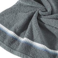 Ręcznik z tęczowym haftem na bordiurze 50x90cm - 50 X 90 cm - stalowy 5