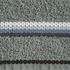 Ręcznik z tęczowym haftem na bordiurze 70x140cm - 70 X 140 cm - stalowy 4
