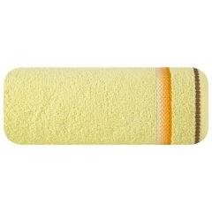 Ręcznik z tęczowym haftem na bordiurze 30x50cm - 30 X 50 cm - żółty 2