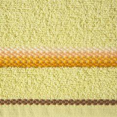 Ręcznik z tęczowym haftem na bordiurze 50x90cm - 50 X 90 cm - żółty 9