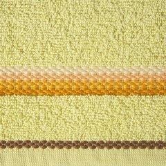 Ręcznik z tęczowym haftem na bordiurze 50x90cm - 50 X 90 cm - żółty 3