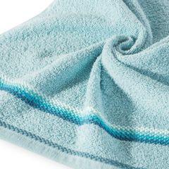 Ręcznik z tęczowym haftem na bordiurze 30x50cm - 30 X 50 cm - niebieski 5