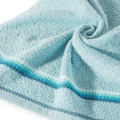 Ręcznik z tęczowym haftem na bordiurze 50x90cm - 50 X 90 cm - niebieski 5