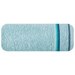 Ręcznik z tęczowym haftem na bordiurze 70x140cm - 70 X 140 cm - niebieski 2
