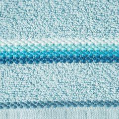 Ręcznik z tęczowym haftem na bordiurze 70x140cm - 70 X 140 cm - niebieski 4