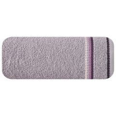 Ręcznik z tęczowym haftem na bordiurze 30x50cm - 30 X 50 cm - liliowy 2