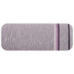 Ręcznik z tęczowym haftem na bordiurze 50x90cm - 50 X 90 cm - liliowy 2