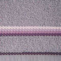 Ręcznik z tęczowym haftem na bordiurze 70x140cm - 70 X 140 cm - liliowy 10