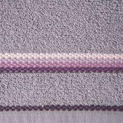 Ręcznik z tęczowym haftem na bordiurze 70x140cm - 70 X 140 cm - liliowy 4