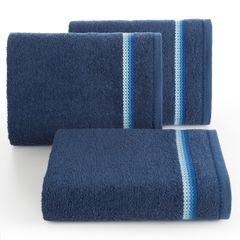 Ręcznik z tęczowym haftem na bordiurze 50x90cm - 50 X 90 cm - granatowy 1