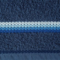 Ręcznik z tęczowym haftem na bordiurze 50x90cm - 50 X 90 cm - granatowy 3