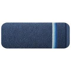 Ręcznik z tęczowym haftem na bordiurze 50x90cm - 50 X 90 cm - granatowy 2