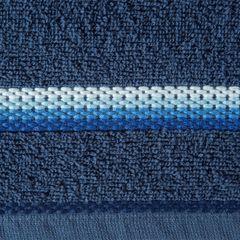 Ręcznik z tęczowym haftem na bordiurze 70x140cm - 70 X 140 cm - granatowy 9