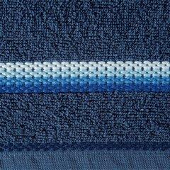 Ręcznik z tęczowym haftem na bordiurze 70x140cm - 70 X 140 cm - granatowy 10