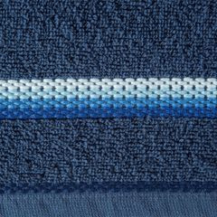 Ręcznik z tęczowym haftem na bordiurze 70x140cm - 70 X 140 cm - granatowy 4