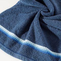 Ręcznik z tęczowym haftem na bordiurze 70x140cm - 70 X 140 cm - granatowy 5