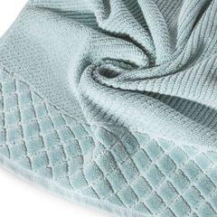 Ręcznik z bawełny z miękką bordiurą w kosteczkę 50x90cm miętowy - 50 X 90 cm - miętowy 9