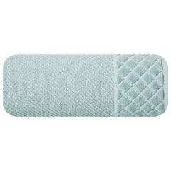 Ręcznik z bawełny z miękką bordiurą w kosteczkę 50x90cm miętowy - 50 X 90 cm - miętowy 2
