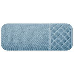 Ręcznik z bawełny z miękką bordiurą w kosteczkę 50x90cm ciemnoniebieski - 50 X 90 cm - niebieski 2