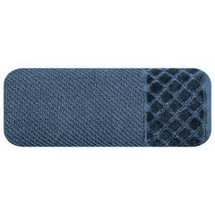 Ręcznik z bawełny z miękką bordiurą w kosteczkę 50x90cm granatowy - 50 X 90 cm - granatowy 2